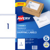 Avery Shipping Laser Labels L7167 199.6x289.1mm White 100 Labels, 100 Sheets
