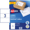 Avery Shipping Laser Labels L7155 200.7x93.1mm White 300 Labels, 100 Sheets