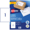 Avery Shipping Laser Labels L7167 199.6x289.1mm White 2000 labels, 20 Sheets