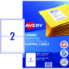 Avery Shipping Laser Labels L7168 199.1x143.5mm White 500 Labels, 250 Sheets