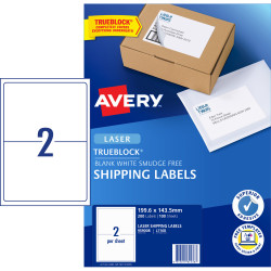 Avery Shipping Laser Labels l7168 199.6x143.5mm White 200 Labels, 100 Sheets